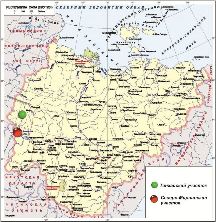 Участки Танхайский и Северо-Мирнинский